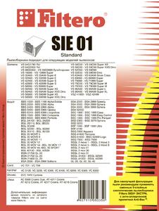 Мешки-пылесборники Filtero SIE 01 Standard, 5 шт, бумажные
