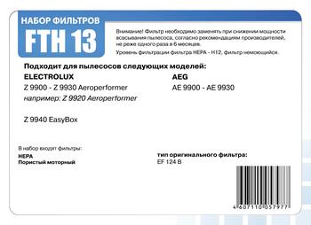 HEPA фильтр Filtero FTH 13 для пылесосов Electrolux, AEG